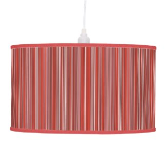 Many multi colored strips in red ceiling lamp