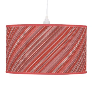 Many multi colored strips in red diagonal ceiling lamp