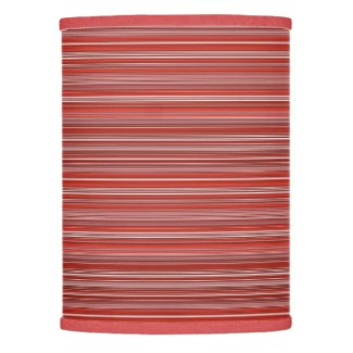 Many multi colored strips in red diagonal lamp shade