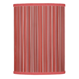 Many multi colored strips in red lamp shade