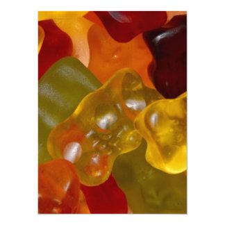 Many multicolored Gummibärchen Card