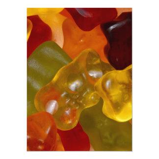 Many multicolored Gummibärchen 5.5x7.5 Paper Invitation Card