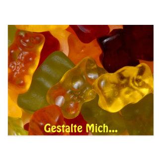 Many multicolored Gummibärchen Postcard