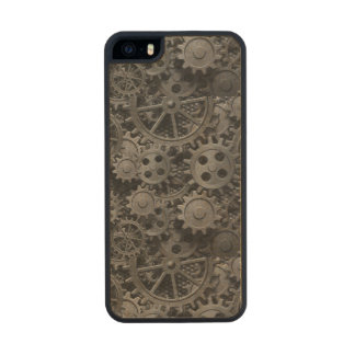 Many old rusty metal gears or machine parts carved® maple iPhone 5 slim case