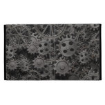 Many old rusty metal gears or machine parts iPad folio covers