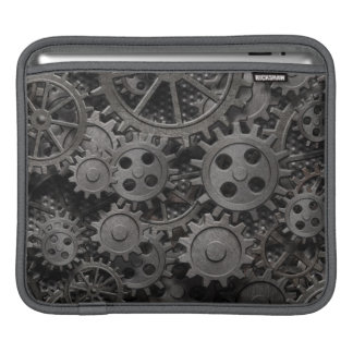 Many old rusty metal gears or machine parts iPad sleeves