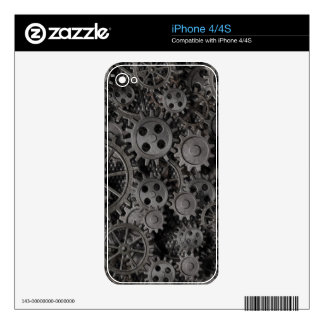 Many old rusty metal gears or machine parts iPhone 4 decal