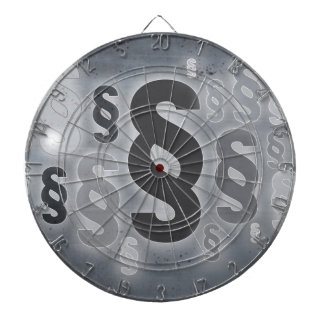Many paragraphs in front of concrete wall concept dart board