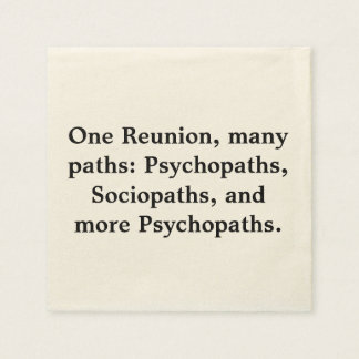 Many Paths Funny Family Reunion Napkins
