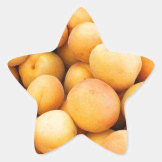 Many Peaches at a Market Star Sticker