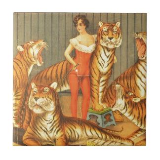 Many Pet Tigers Ceramic Tile