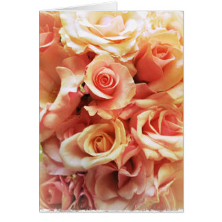 Many pink roses birthday card