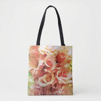 Many pink roses tote bag