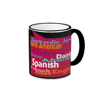 Many races.One world. Ringer Coffee Mug