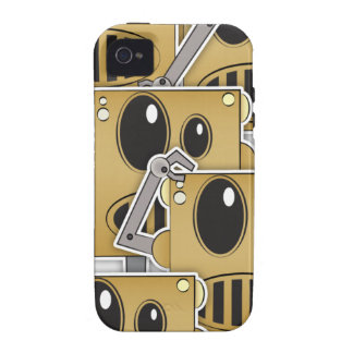 Many Robots - White iPhone iPhone 4/4S Covers