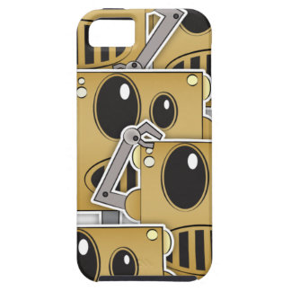 Many Robots - White iPhone iPhone 5 Cases