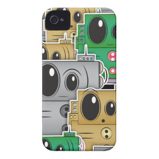Many Roll Robots iPhone - Black Case-Mate iPhone 4 Case