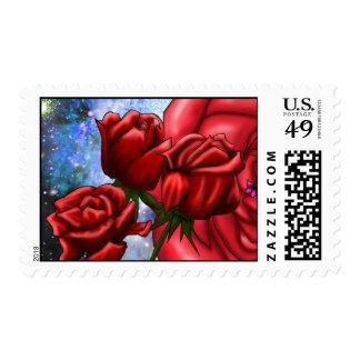 many roses stamp