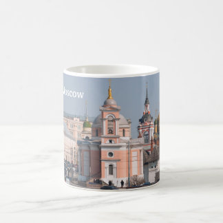 Many Russian orthodox churches in center of Moscow Coffee Mug