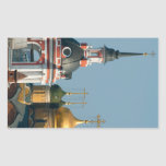 Many Russian orthodox churches in center of Moscow Sticker