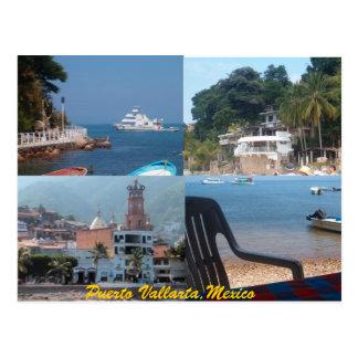 many scenes from Puerto Vallarta postcard