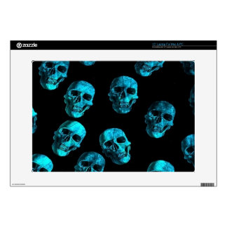 many skulls, blue decals for laptops