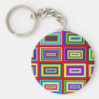 Many Small Colorful Optical Effects Keychain