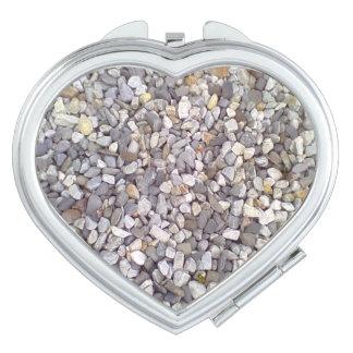 Many small stones compact mirror