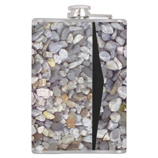 Many small stones hip flask
