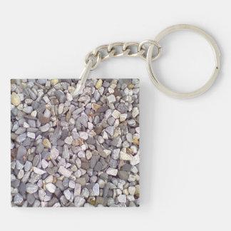 Many small stones keychain