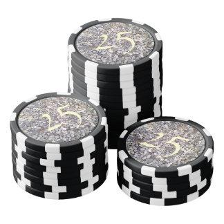 Many small stones poker chip set