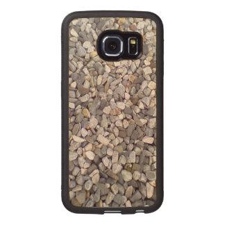 Many small stones wood phone case