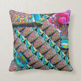 Many smartie lorries slant both sides same throw pillow
