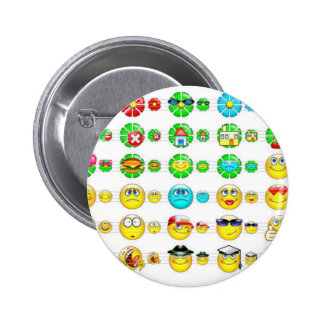 many smiley faces 2 inch round button