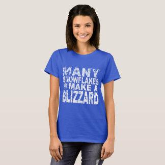 'Many Snowflakes make a Blizzard' T-Shirt
