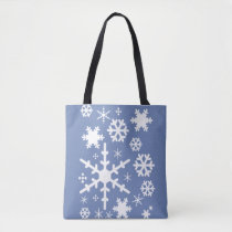 Many Snowflakes Tote Bag