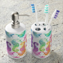 Many Soap Dispenser And Toothbrush Holder