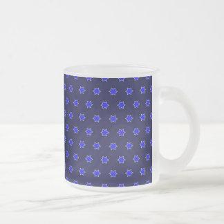 many stars blue coffee mug