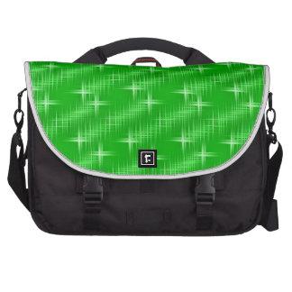 Many Stars, neon green Laptop Messenger Bag