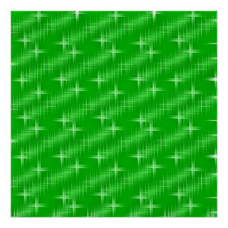 many stars, neon green print