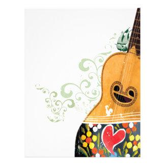 Many Symbols of Portugal - Portuguese Guitar Letterhead