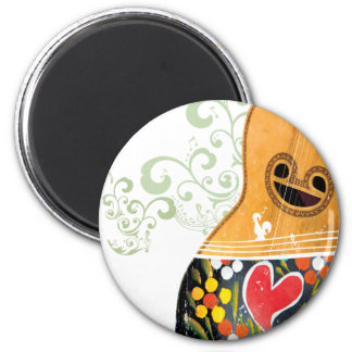 Many Symbols of Portugal - Portuguese Guitar Magnet
