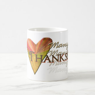 Many Thanks Classic White Coffee Mug