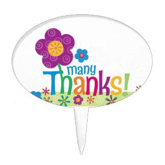 Many Thanks Design Cake Topper