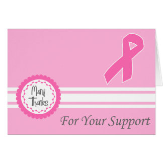 Many Thanks For Your Support (Pink Ribbon) Card