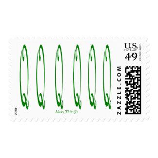 Many Thin Q's Postage Stamp