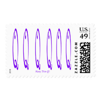Many Thin Q's Postage Stamp - Customized