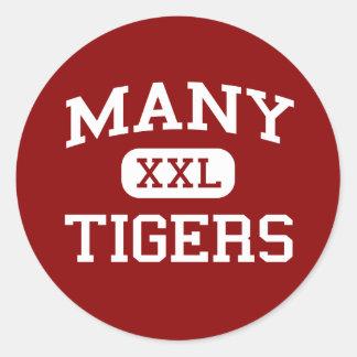Many - Tigers - Junior - Many Louisiana Classic Round Sticker