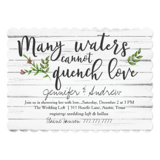 Many Waters Cannot Quench Love Bridal Card