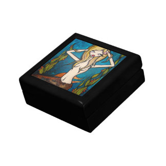 """Many Waters"" Jewelry Trinket Box, Small Gift Box"